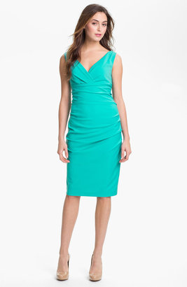Suzi Chin for Maggy Boutique Ruched Jersey Sheath Dress