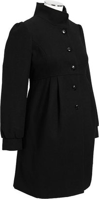 Old Navy Maternity Button-Front Wool-Blend Coats