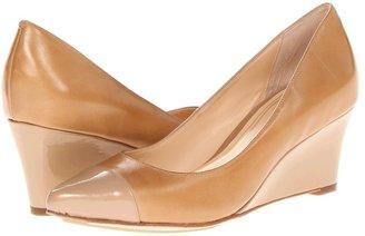 Cole Haan Chelsea Low Wedge (Sandstone/Sandstone Patent) - Footwear