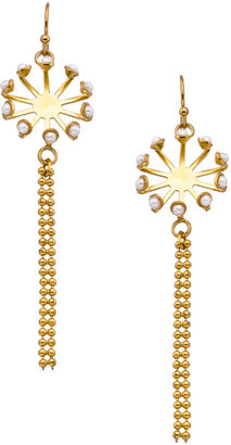 Shlomit Ofir Jewelry Gold and Pearl Japanese Bridal Earrings