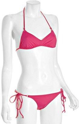 Shimmi cherry 'Chloe' side tie halter bikini