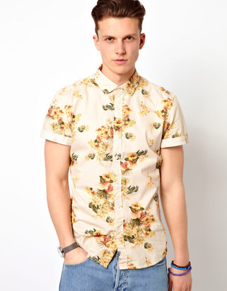 Esprit Shirt With Floral Print
