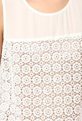 Forever 21 sleeveless eyelet embroidered top