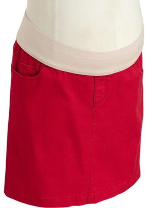 Old Navy Maternity Low-Rise Red-Denim Skirts