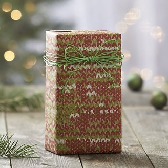 Crate & Barrel Sweater Gift Wrap.