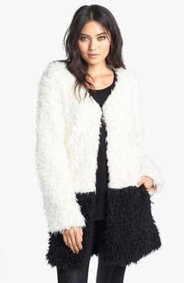 MinkPink Faux Fur Coat