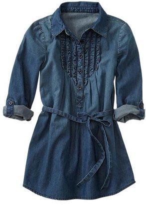 Gap Convertible denim ruffle dress