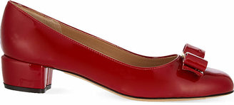 Salvatore Ferragamo Vara I patent-leather courts