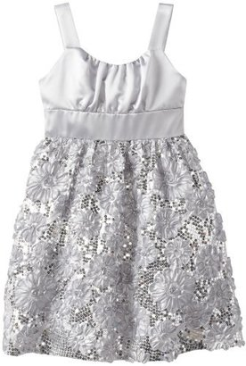 Rare Editions Big Girls' Satin To Soutache Dress