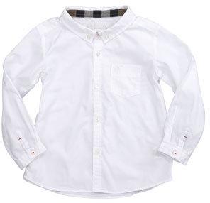 Burberry Lightweight Check-Lined Oxford Shirt