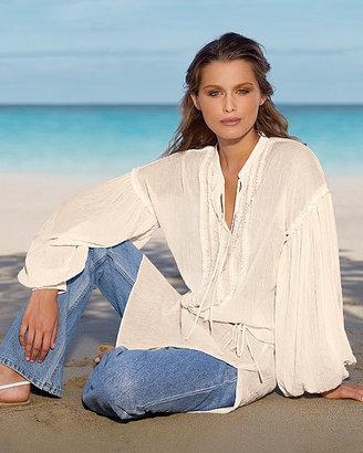 Newport News Oversized gauze tunic blouse