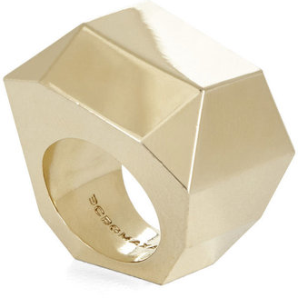 BCBGMAXAZRIA Faceted Metal Stone Ring