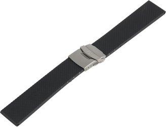 Momentum Men's ZC-22RDB Aeromax / Chronologic F3 / Logic 22mm Black Rubber Watch Strap