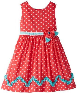 Rare Editions Girls 2-6X Dot Woven Dress