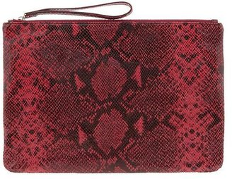 Banana Republic Python Embossed Oversized Clutch