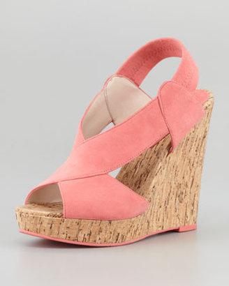 Pelle Moda Dana Crisscross Cork Wedge Sandal