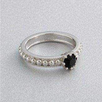 Vera Wang Simply vera sterling silver black crystal ring