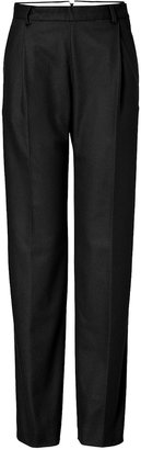 Paul Smith Wool Blend Wide Leg Pants in Black