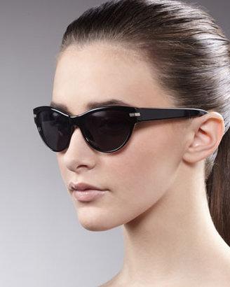 Oliver Peoples Kosslyn Cat-Eye Sunglasses, Black