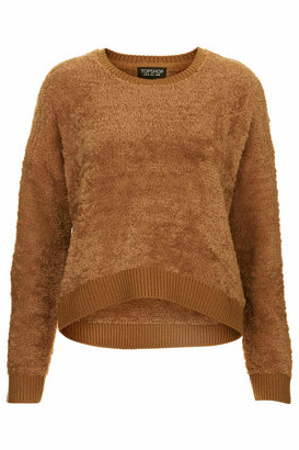 Topshop Textured fluffy knitted sweater with extra soft hand-feel. 85% polyester, 14% acrylic, 1% elastane. machine washable.