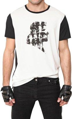 Karl Lagerfeld Techno Jersey Silhouette T-Shirt