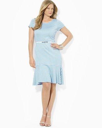 Lauren Ralph Lauren Plus Short Sleeve Belted Dress