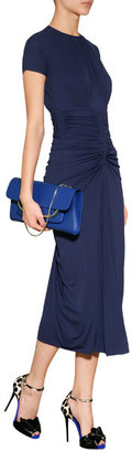 Michael Kors Jersey Midi-Dress with Gathered Detailing