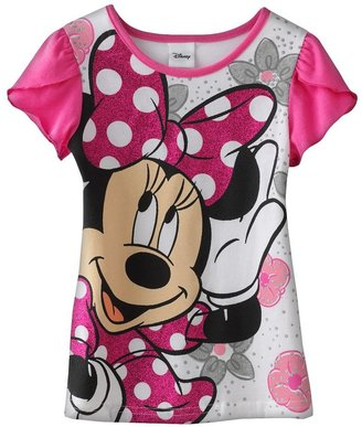 Disney mickey mouse & friends minnie mouse sparkle tee- girls 4-6x
