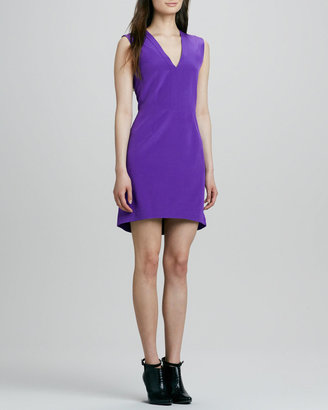 Tibi Sleeveless V-Neck Dress