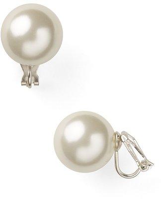 Lauren Ralph Lauren Imitation-Pearl Clip On Earrings, 16mm