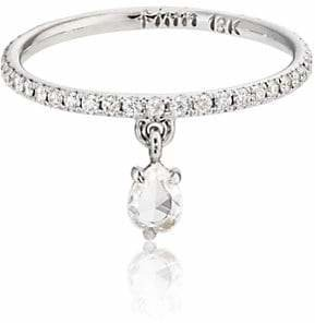 Finn Women's White Diamond Teardrop Band
