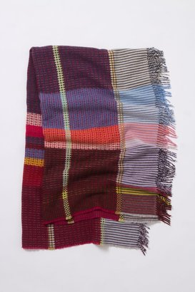Anthropologie Loomed Plaid Throw