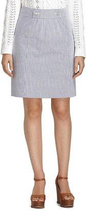 Brooks Brothers Seersucker A-Line Skirt