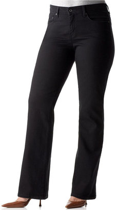 Levi's Plus Size Jeans, 512 Perfectly Shaping Tummy Control Straight Leg Black Wash