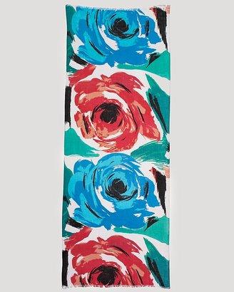 AQUA Roses Print Scarf