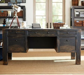 "Pottery Barn Dawson 68"" Desk with Drawers"