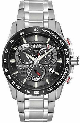 Citizen Men's Eco-Drive Perpetual Chrono Atomic Timekeeping Watch with Day/Date