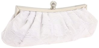 Jessica McClintock Lace Clutch (White/Lace) - Bags and Luggage