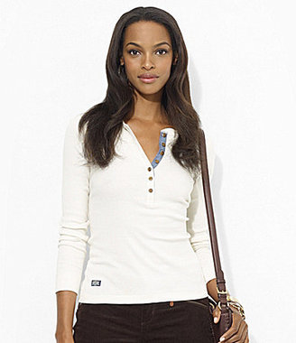 Lauren Ralph Lauren Crewneck Cotton Henley Shirt