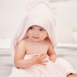 The White Company Girls Hooded Bear Towel , Pink, Small