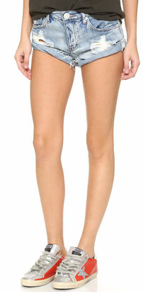 One Teaspoon Hendrix Bandit Shorts $99 thestylecure.com