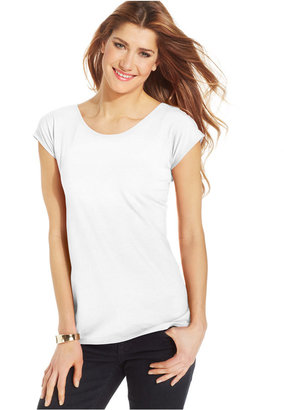 Style & Co Scoop-Neck T-Shirt, Only at Macy's $19.50 thestylecure.com