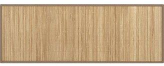 Crate & Barrel Bamboo Mocha 2.5'x7' Runner