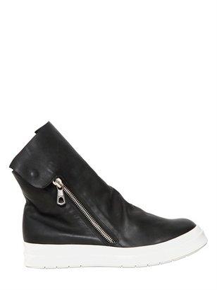 Cinzia Araia Zip Up Leather High Sneakers