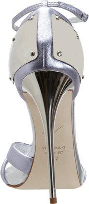 Giuseppe Zanotti Plated Heel Metallic Sandal