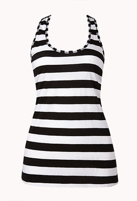Forever 21 Striped Racerback Workout Tank