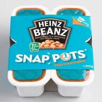 Heinz Baked Beanz Snap Pots Pack of 4