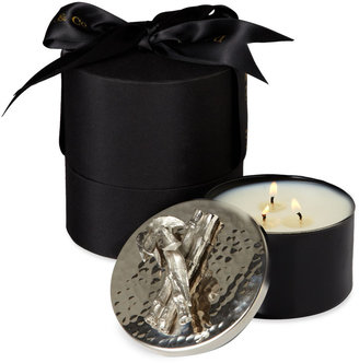 D.L. & Co. Bamboo Sticks Hammered Lid Artisan Candle