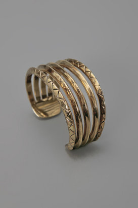 House Of Harlow Etched Cuff Yellow Gold