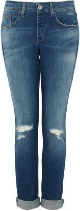 Topshop MOTO Vintage Lacey Rip Jeans